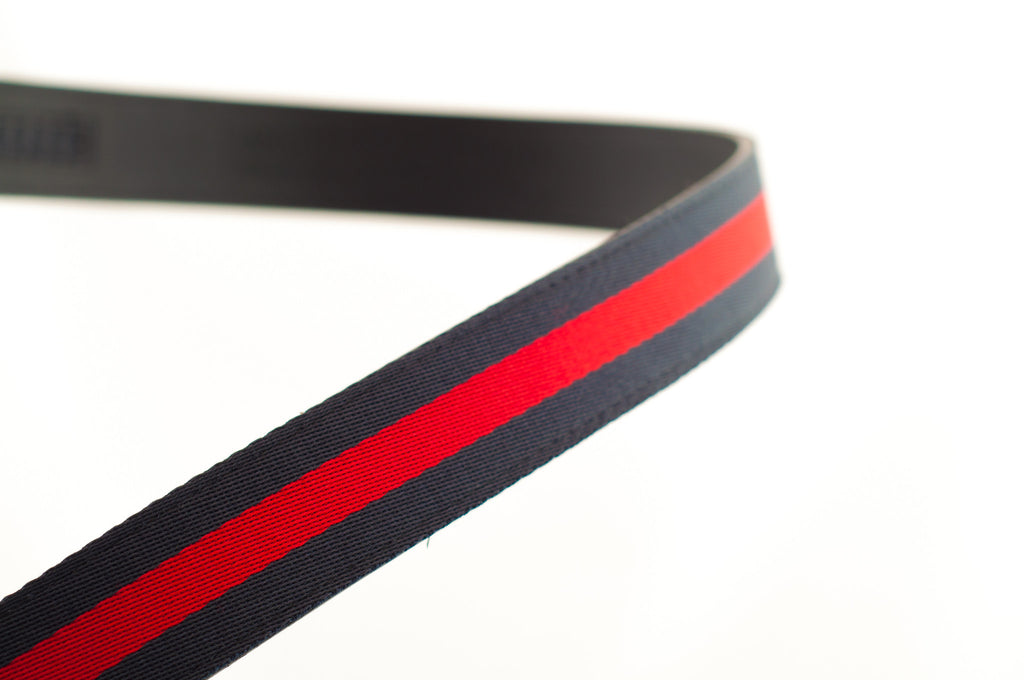"1.25"" Navy-Red Stripe Cloth Strap"