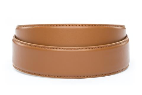 "**FACTORY SECOND** 1.5"" Saddle Tan Leather Strap - Anson Belt & Buckle"