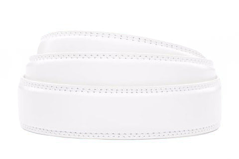 "1.25"" White Leather Strap - Anson Belt & Buckle"