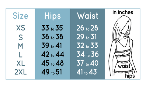 Leggings Sizing Guide