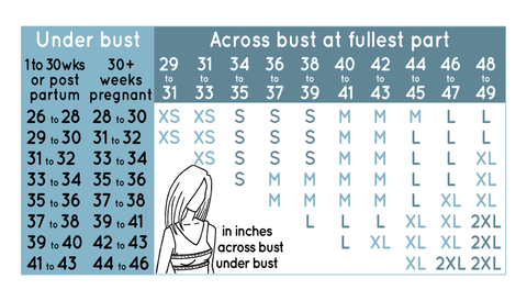 Soothe Shirt Sizing Guide