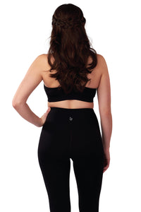 High Waisted Leggings Pure Black Crop-Length