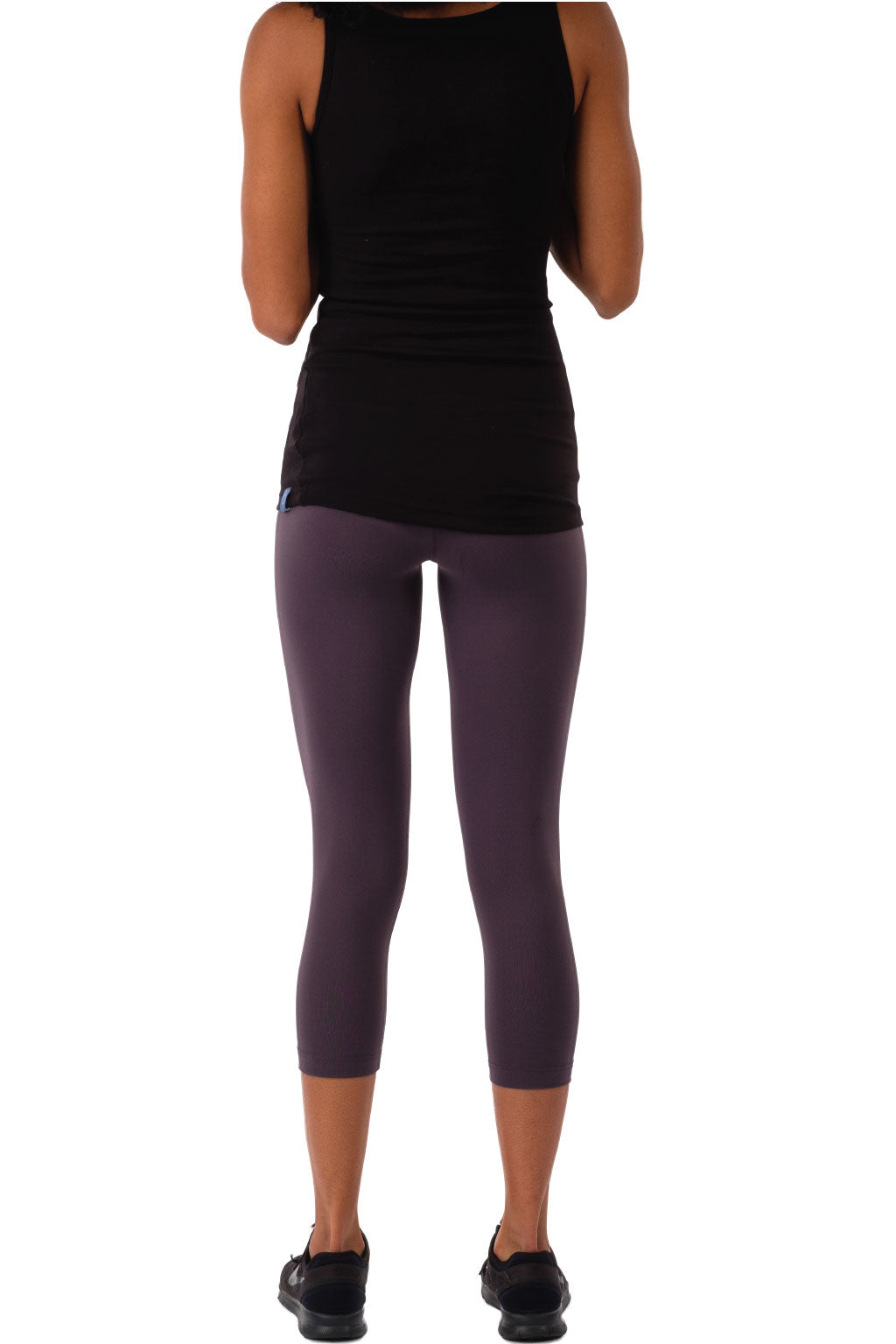 High Waisted Leggings Charcoal Gray Crop-Length