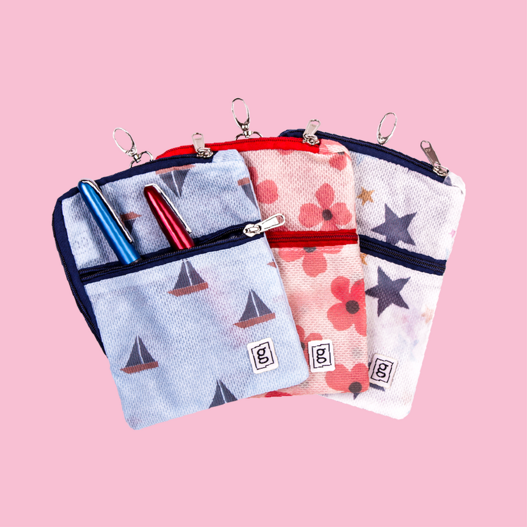Cooling pouches wallets in patterns