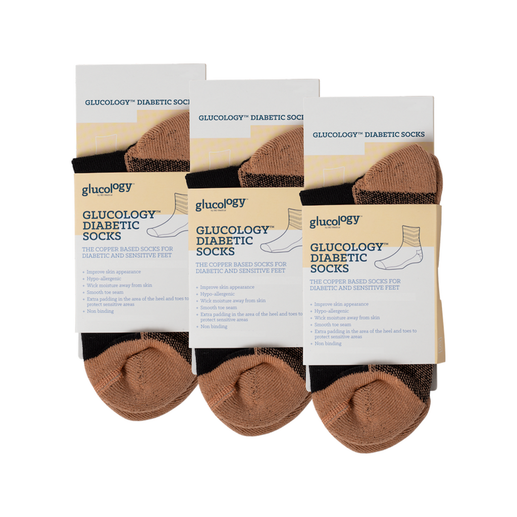 Diabetes Copper Classic Socks l 3 Pack l Black