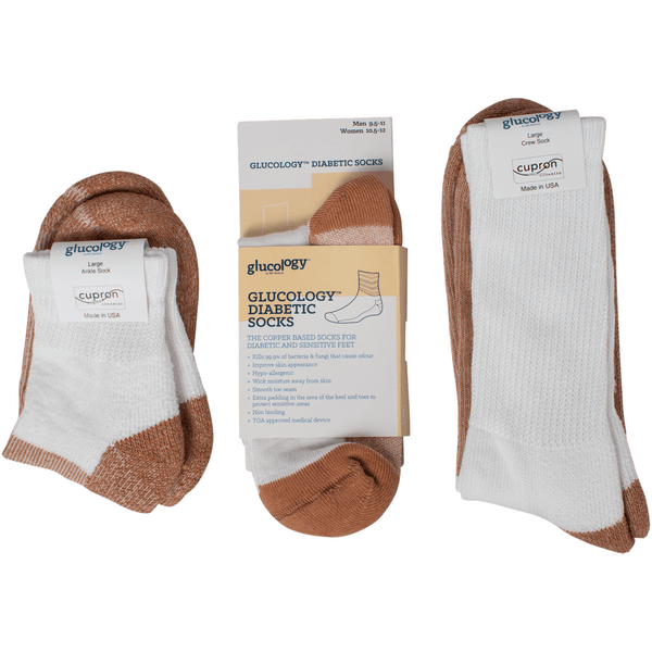 Glucology™ Diabetic Copper Based Socks | Sample Pack | Unisex - Glucology Store -Diabetic Accessories