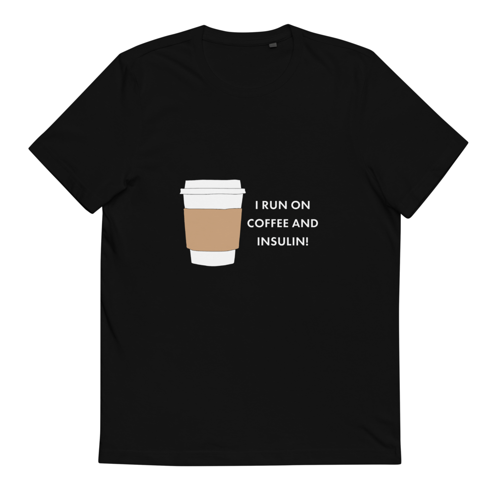 Insulin and Coffee Glucology™ Organic Cotton T-Shirt