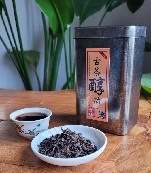 Our Bests: 10 year old vintage fermented Puerh 100g Box