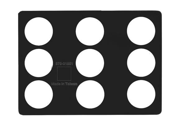 (Apple Part # 923-00599) Weight Placement Rubber Template, 3PK, MacBook Pro Retina