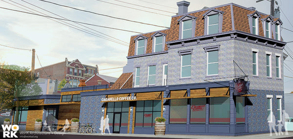 Proposed Conceptual Rendering of New Carabello Coffee in Newport, KY