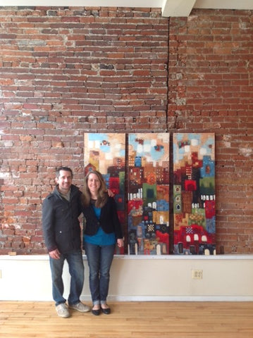 Justin and Emily Carabello inside their new coffee shop in Newport, KY