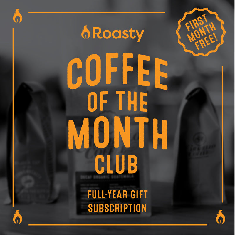 Roasty Coffee of the Month Club-Full-Year Gift Subscription