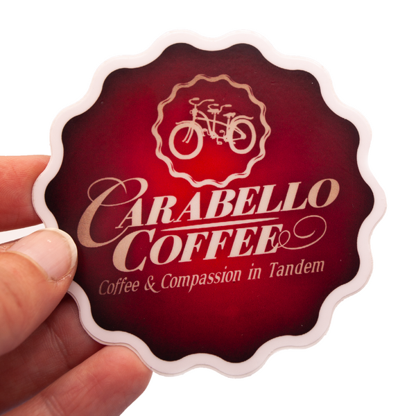 Carabello Coffee  Red Logo Sticker