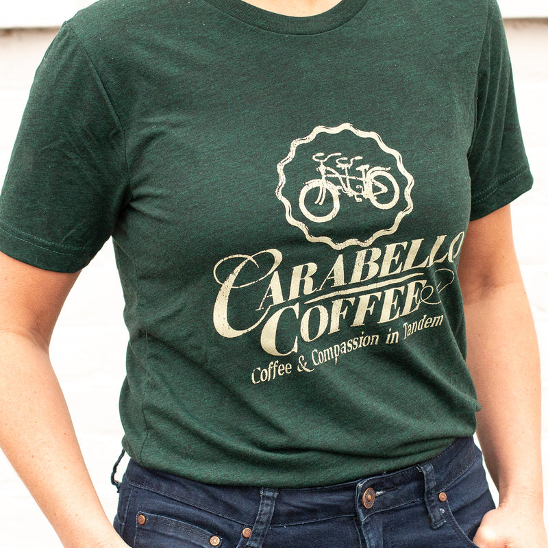 Carabello Super Soft Logo Tee-Dark Green