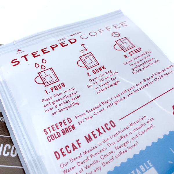 Steeped Decaf pack (Closeout Special)