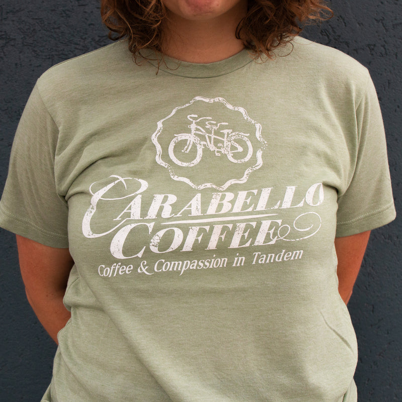 Carabello Super Soft Logo Tee-Heather Green