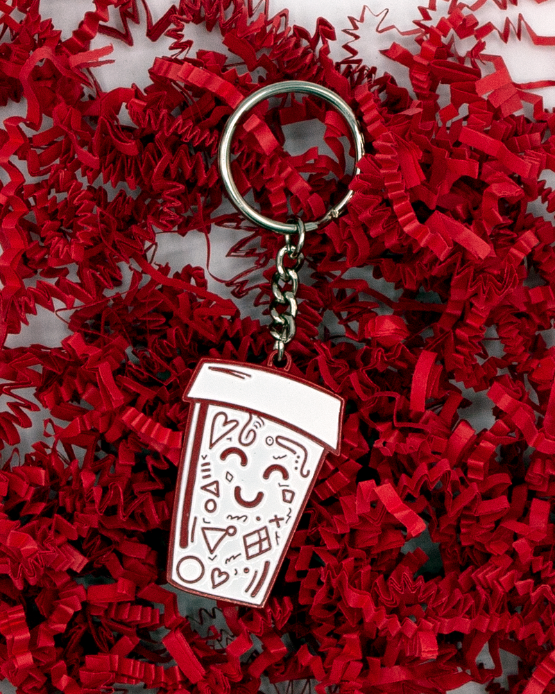 Doodle cup key chain