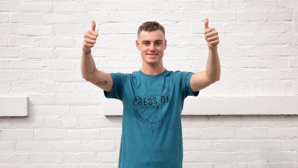 Press On Unisex Soft Tee- Dark Teal