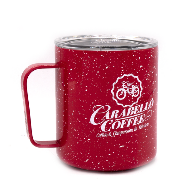 Red Speckled Logo Camp Cup (12oz)