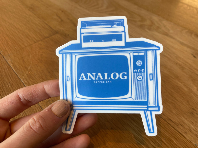 Analog Retro TV sticker