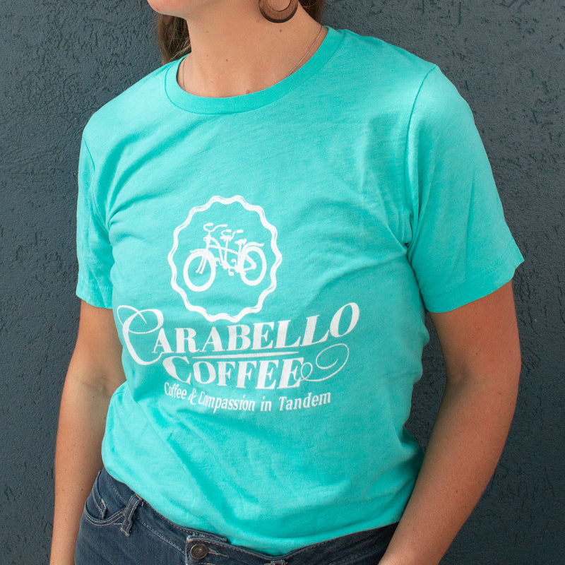 Carabello Super Soft Logo Tee-Sea Foam Green