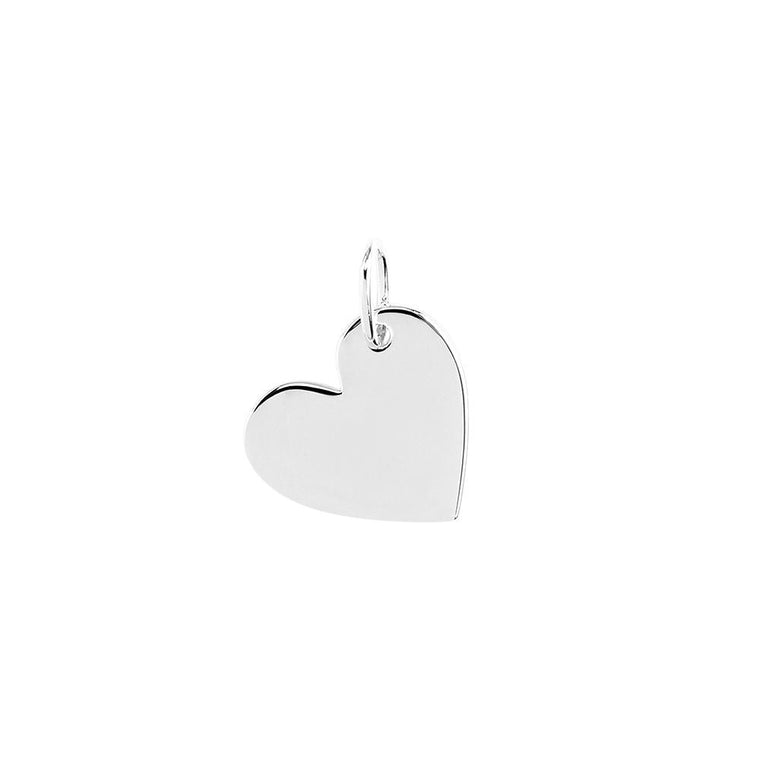 Heart Necklace Charm Silver