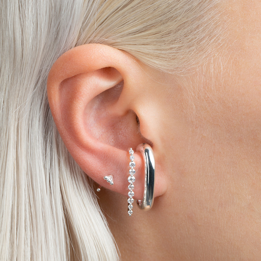 Carmelita Bold Earrings Silver