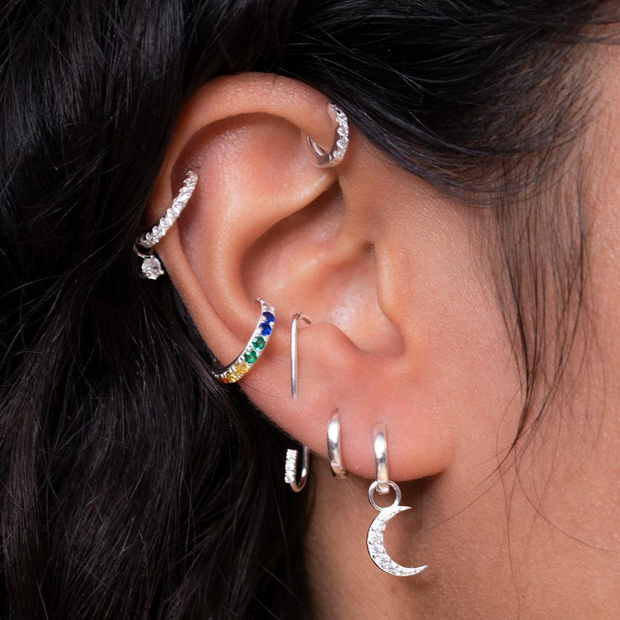 Baby Hoops Silver