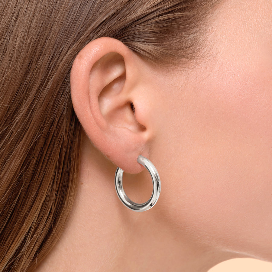 Super Hoops Small Silver - preorder now (mid October)
