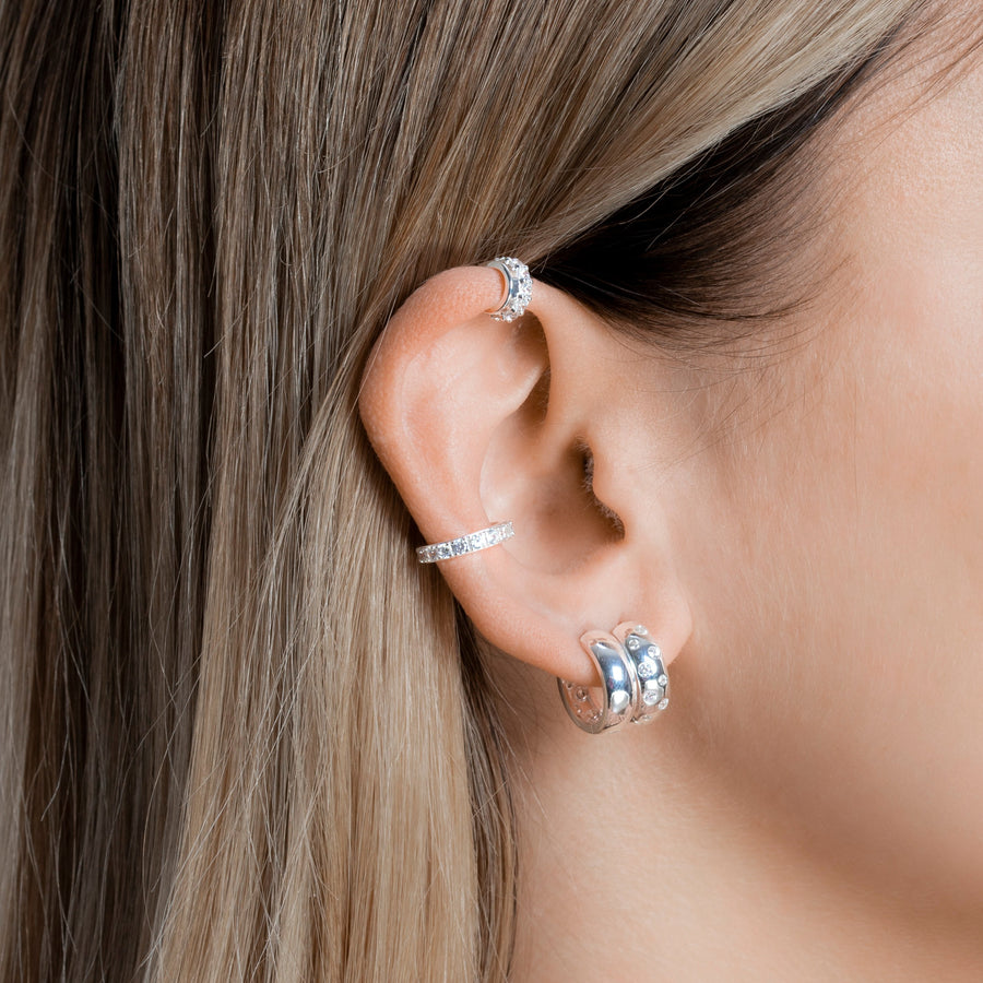 Maya Earrings Zirconia Silver