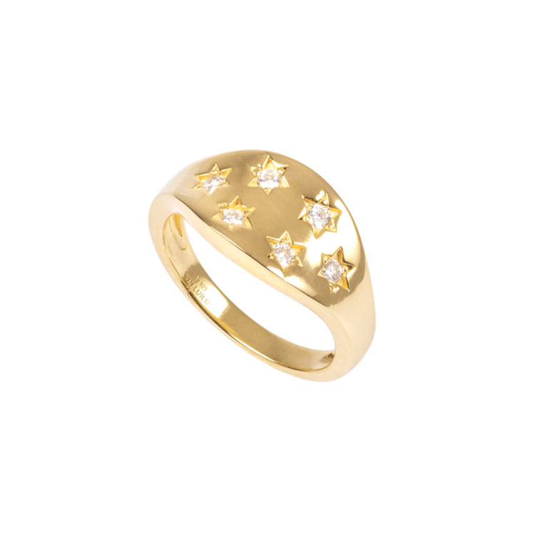 Star Pavé Zirconia Ring
