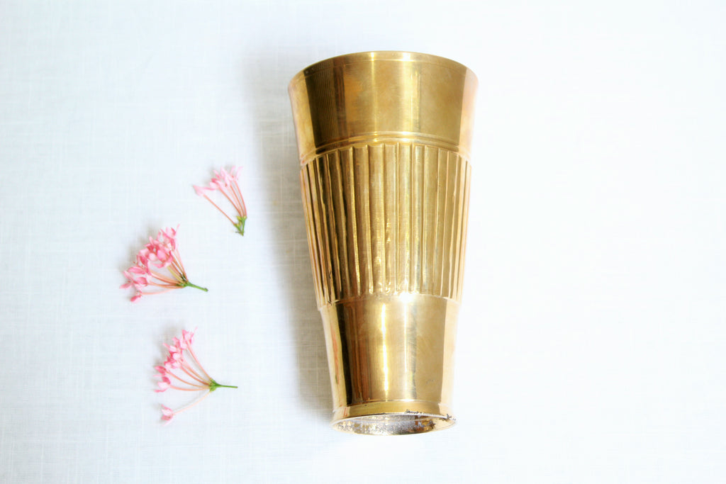 Brass Lassi Glass Tumbler - 550ml
