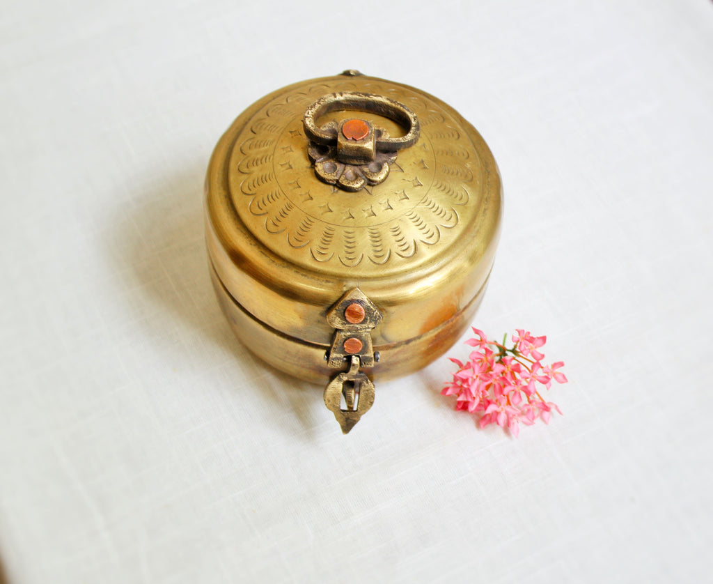 Brass Hand Made Keepsake Box - 4 inch
