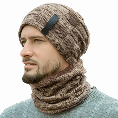 Fashion Winter Hat Neck Warm Knitted Hat & Scarf Set Great Christmas Gift Idea