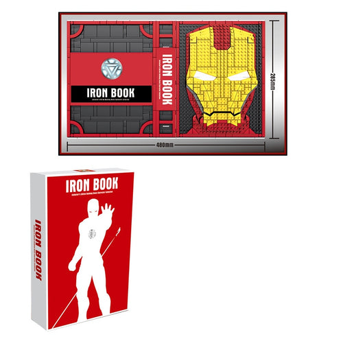 Marvel Iron Man Book Box Base - Hall of Armour Figures - Building Blocks Set -NEW Christmas Gift Idea