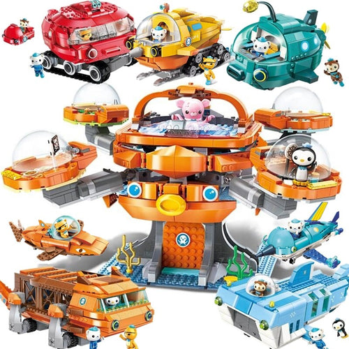 Creative Christmas Gift Ideas City The Octopus Octopod Octonauts Doctor Building Blocks Model Sets