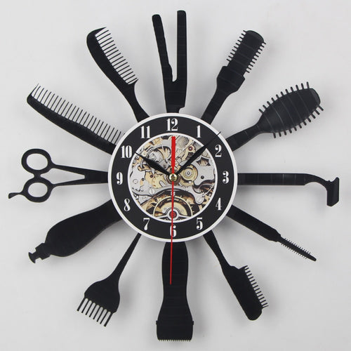Creative Vinyl Wall Clock Christmas Gift Idea for Barber Hair/Beauty Salon Or Hairdresser