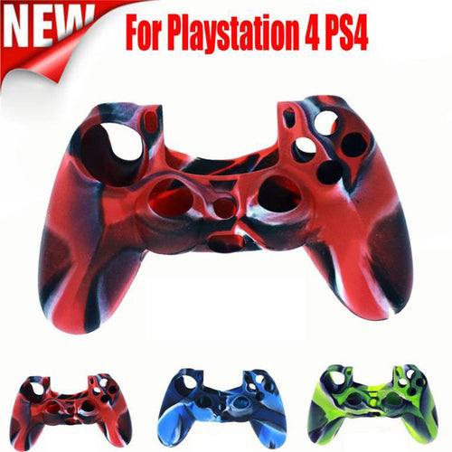 Soft Camouflage Silicone Case Cover For Playstation PS4 Controller