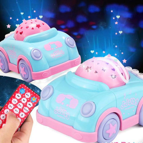 pink remote control car to help babies to relax, sleep and learn. early childhood education gifts for kids and children
