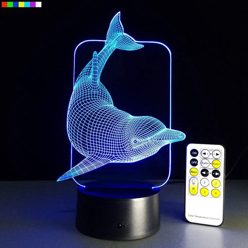 Night Light Animal Dolphin 7 Colors Change with Remote Control (Great Christmas Giftl