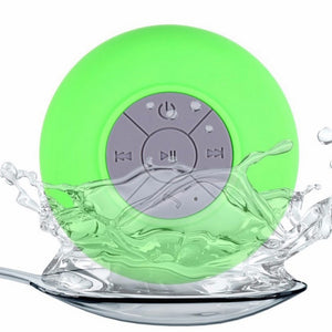 Mini Wireless Waterproof Bluetooth Speaker with Suction Cup - Hands free Portable Shower Speakerphone