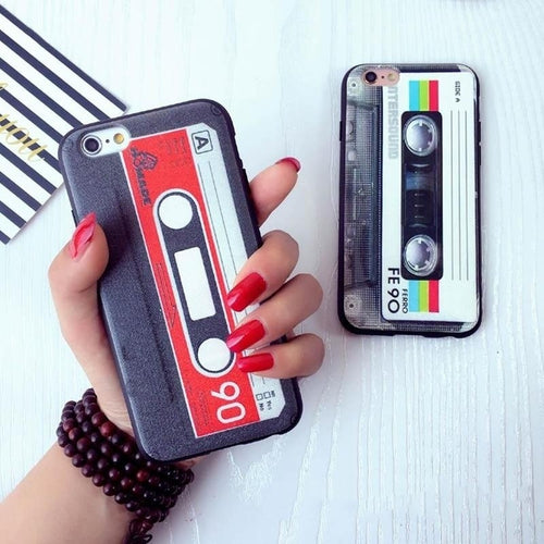 Fashion Tape Game Silicone Soft TPU Phone Case Cover For iPhone 5 6 6S 7 8 PLUS