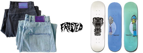 Frosted Skateboards available at Boutique Adrenaline