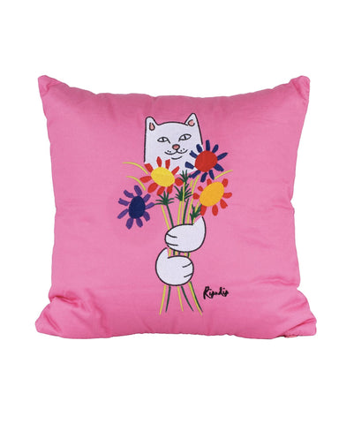 FLOWERS FOR BAE PLUSH PILLOW PINK
