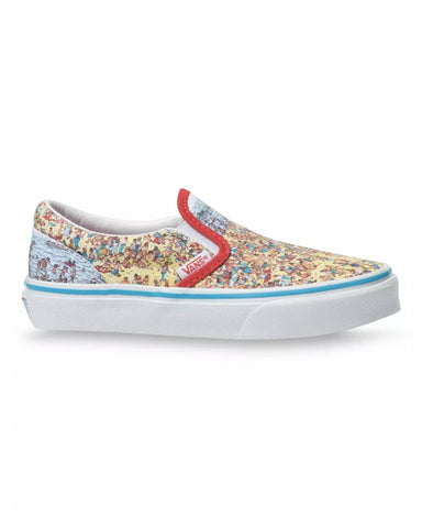 VANS X WHERE'S WALDO? KIDS CLASSIC SLIP-ON