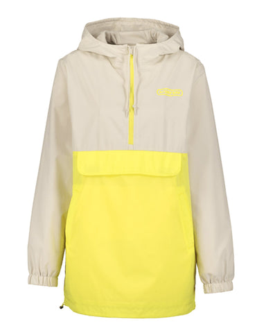 UP THE ANTE ANORAK JACKET LEMON TONIC