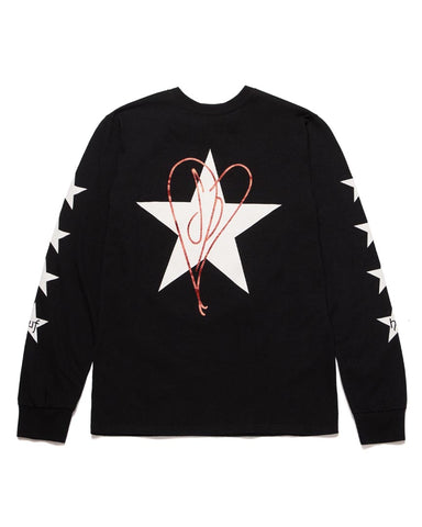 STARLA LONG SLEEVE T-SHIRT BLACK