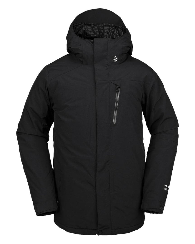 Snow Jacket VOLCOM L INSULATED GORE-TEX BLACK JACKET