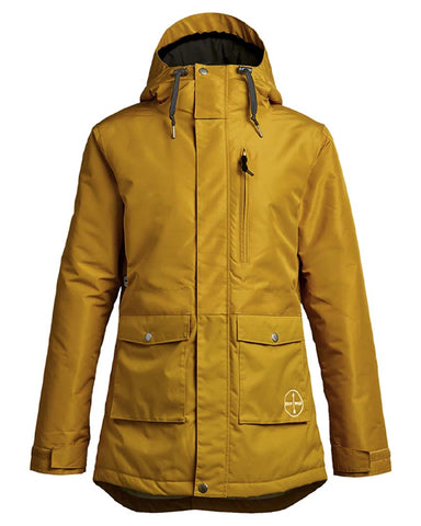 STAY WILD PARKA DARK GOLD