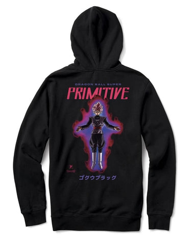 PRIMITIVE X DRAGONBALL ROSE HOOD BLACK